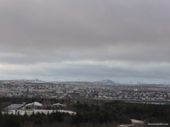 Kopavogur and beyond to Reykjanes (view more or less to the south)