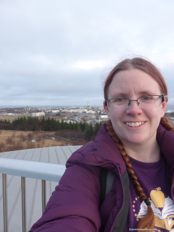 That is the pained, forced smile of someone whose ears are about to break off from the cold.