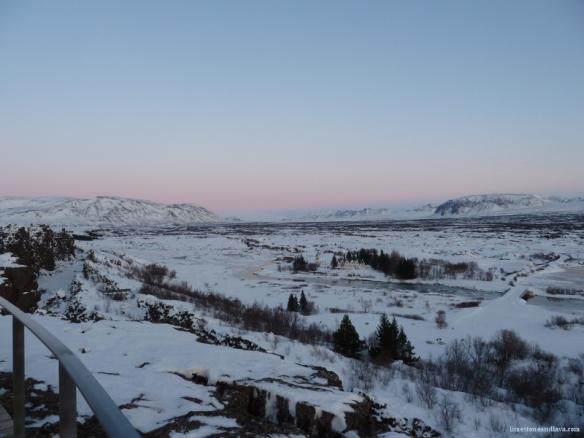 Þingvellir in winter