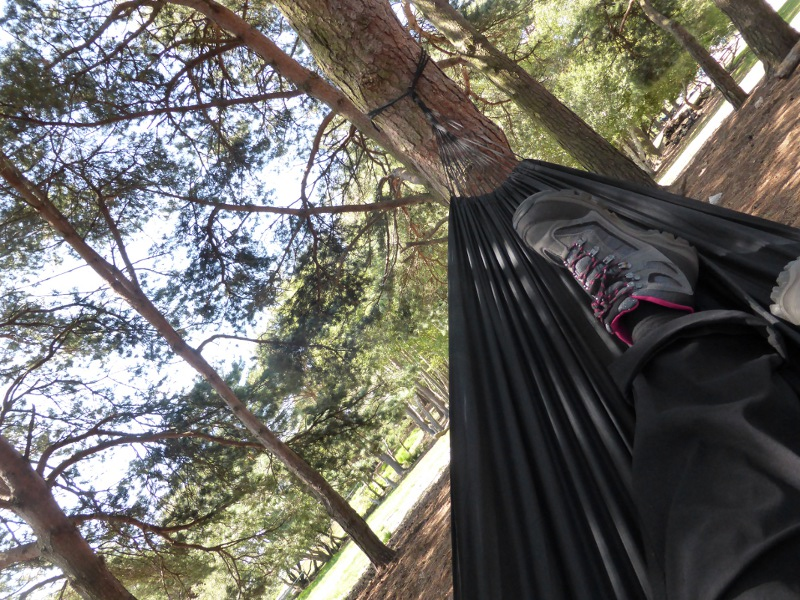 I get five minutes peace to enjoy the hammock