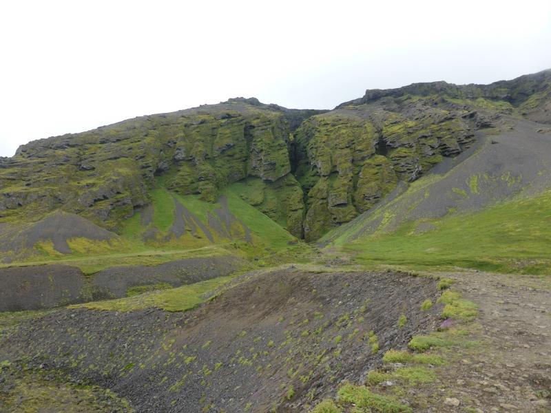 The cliff at Rauðfeldar